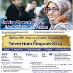 IBA Sukkur Admissions Talent Hunt Program 2016
