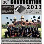 UAF 20th convocation 2013