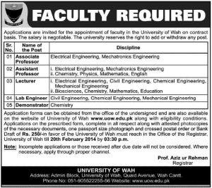 University-of-Wah-Jobs-2014