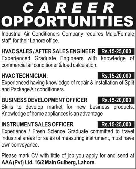 Air-Conditioner-Jobs-in-Lahore