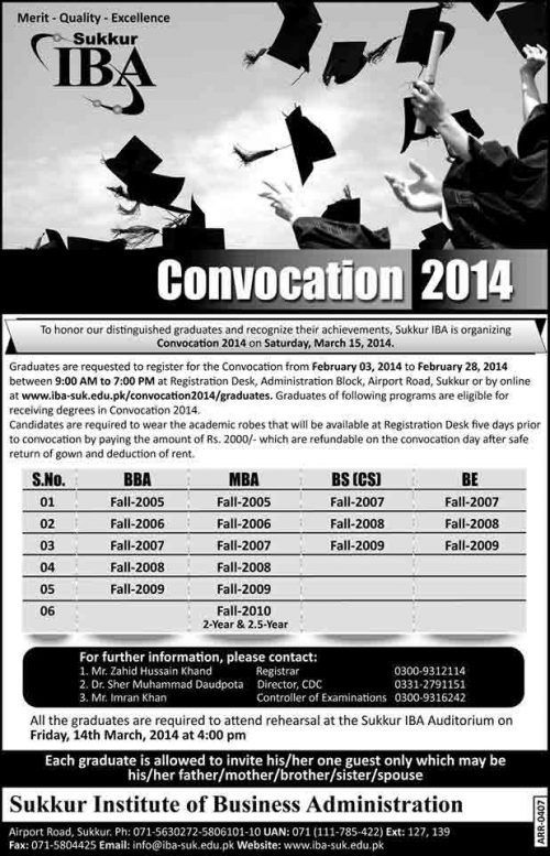 IBA-Sukkur-Convocation-2014