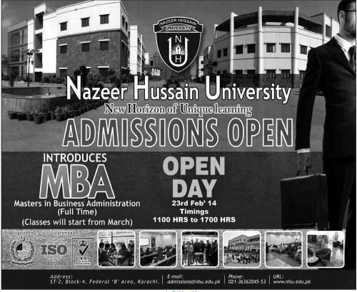 admission Nazeer University