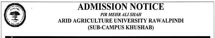 Arid-Agricultural-University-Admissions-2018