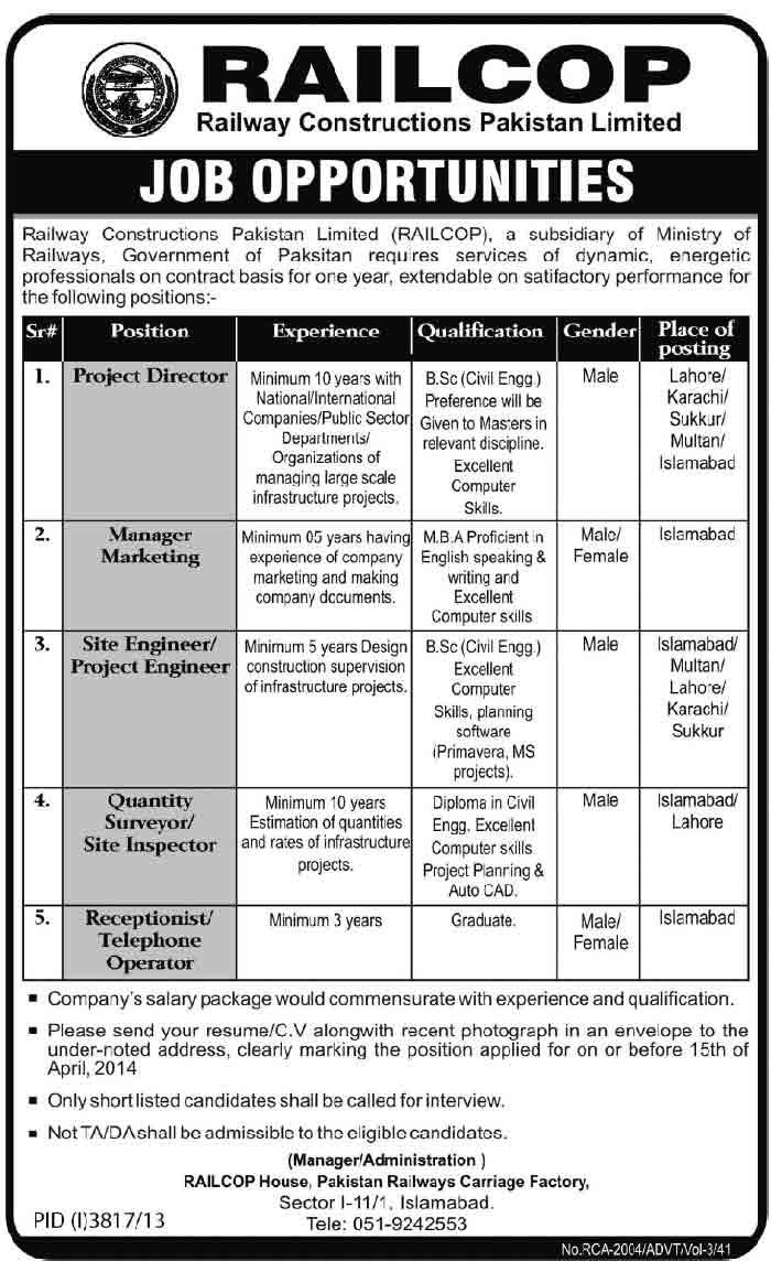 Railcop-Railway-Pakistan-Jobs-2014