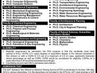 uet lahore phd admissions 2016