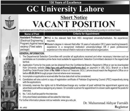 Assistant-Professor-Electrical-Jobs