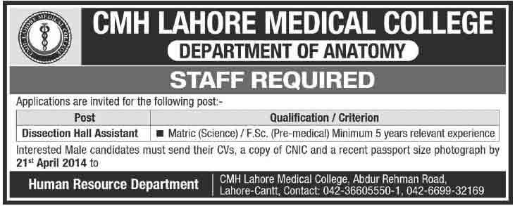 CMH-Lahore-Jobs-2014