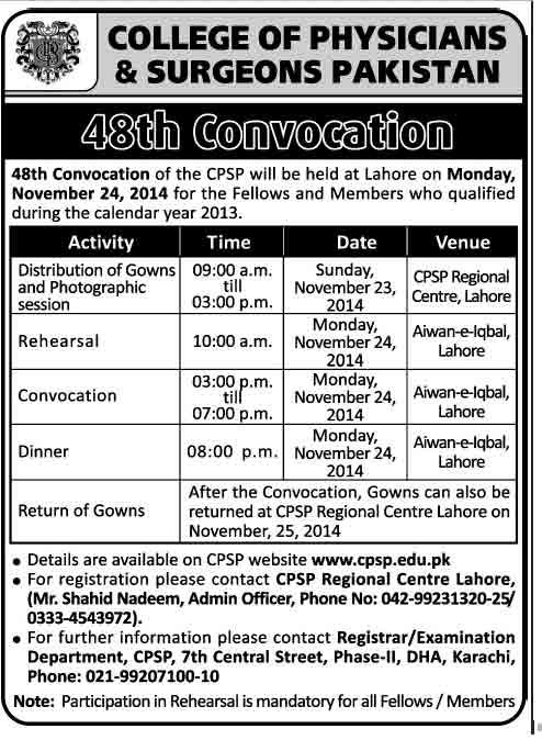 cpsp-48th-convocation-2014