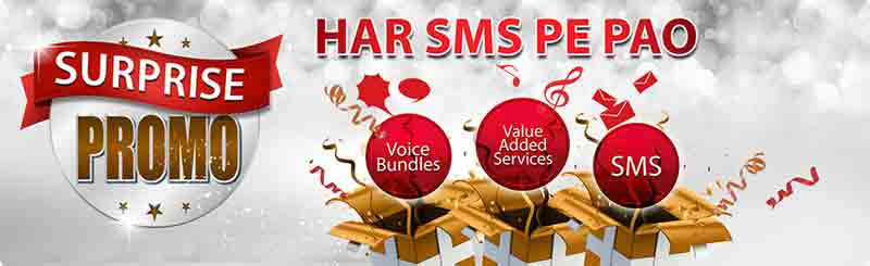 Warid Announces Surprise Promo Har SMS Pe Pao