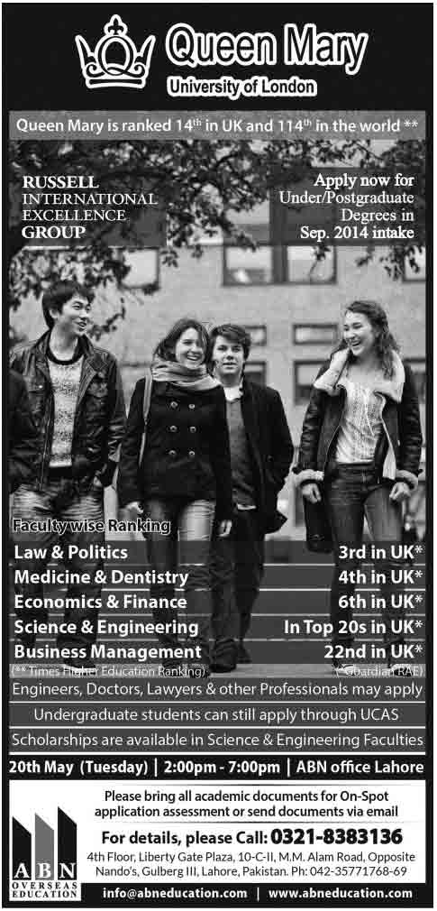 Queen-Mary-University-Admissions-2014