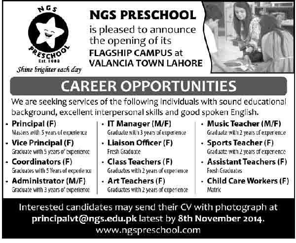 NGS-Preschool-Jobs