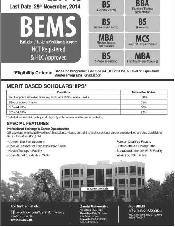 Qarshi-University-Admissions-2020