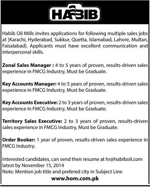 habib-oil-mill-jobs-2014