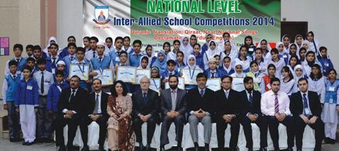Inter Allied School Competition 2014 Winners Group Photo