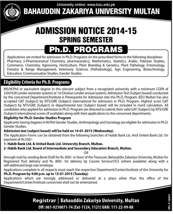 BZU-Multan-Admission-in-PhD