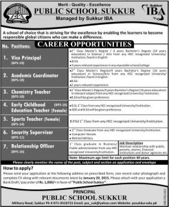 public-school-sukkur-jobs