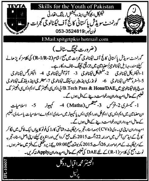 Govt-Swedish-Pakistani-College-of-Technology-Jobs