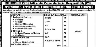 OGDCL Paid Internship Program 2018 Apply Online for Fresh Graduates