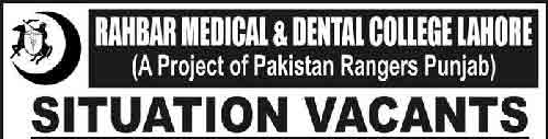 Jobs-in-Rahbar-Medical-&-Dental-College-Lahore