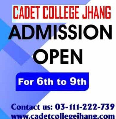Cadet-College-Jhang-Admission test
