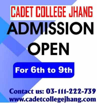 Cadet-College-Jhang-Admission test