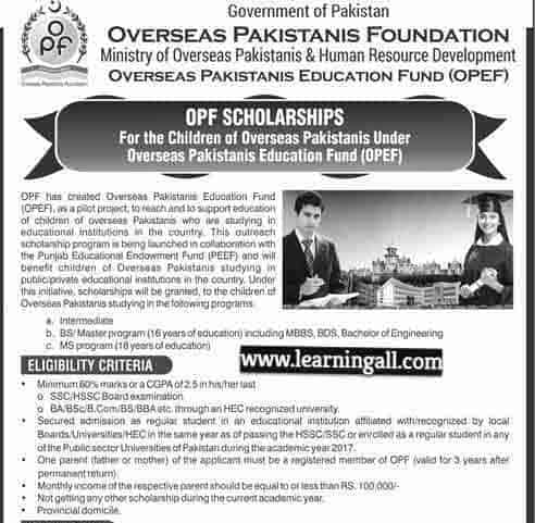 OPF-Scholarships