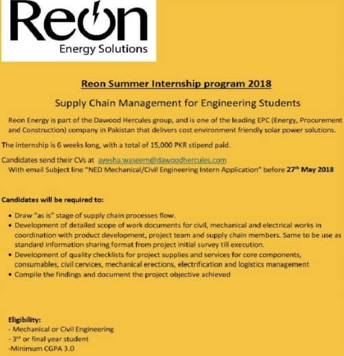 Reon Energy Solutions Internships