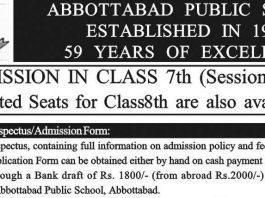 Abbottabad-Public-School-Admission 2020