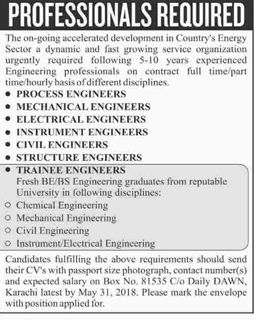 Energy Sector Organization Jobs for Trainee & Experienced Engineers
