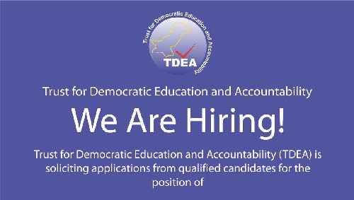 Trust for Democratic Education & Accountability Hiring Training Officers