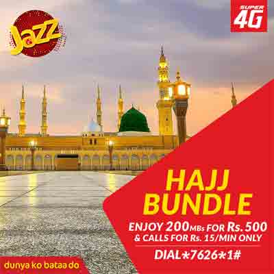 Jazz Telecom Hajj Calling & 4G Internet Offer in Saudi Arabia