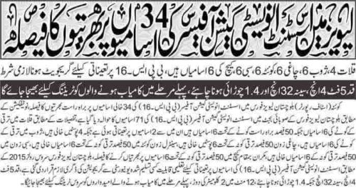 Balochistan Levies Force Jobs 2018 Investigation officer Career