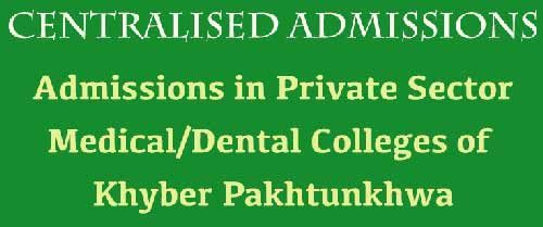 KP MBBS & BDS Admission 2018 in Private Medical Colleges Merit List