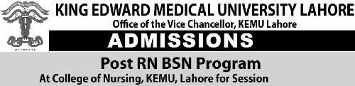 RN-BSN-Program-in-College-of-Nursing-Lahore-KEMU