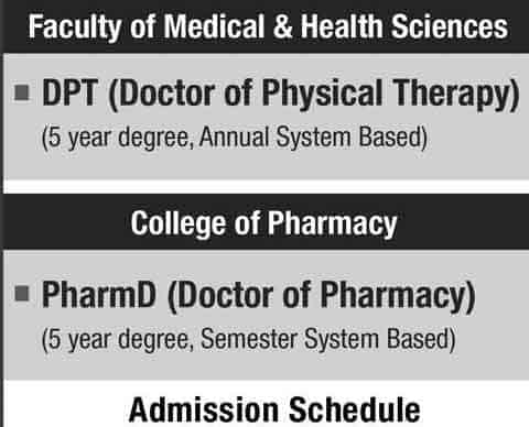 UOS-DPT-Pharmacy-Admissions-Schedule