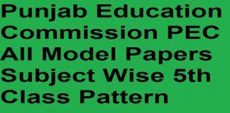 PEC-Model-Papers-2020