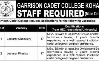 Cadet-College-Kohat-Jobs