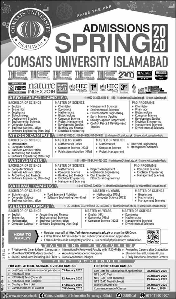 Comsats-University-Islamabad-Admission-2020