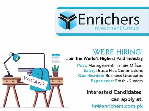 Enrichers-Investment-Management Trainee Officer