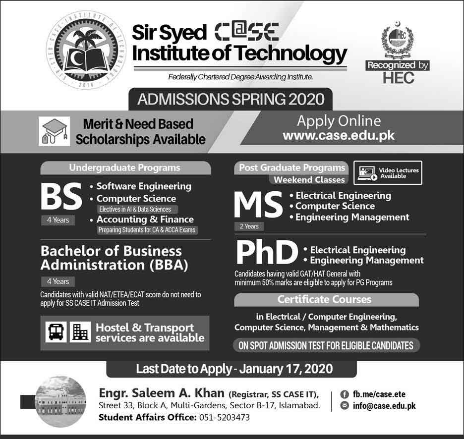 Sir-Syed-Case-Islamabad-Admission-2020