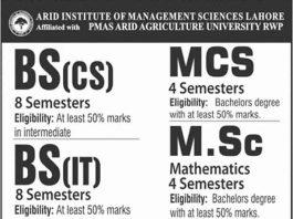 Arid-Institute-of-Management-Sciences-Lahore-admission