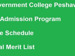 Government-College-Peshawar-Admission-Merit-List