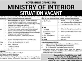 Jobs-in-Ministry-of-Interior Pakistan