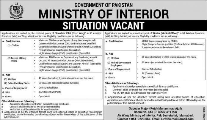 Jobs-in-Ministry-of-Interior Pakistan