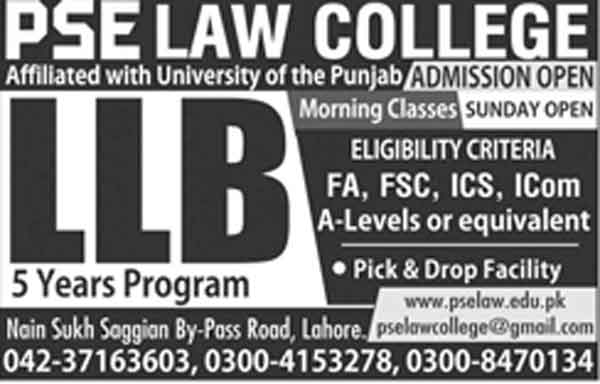 PSE-Law-College-Lahore-LLB-Admissions