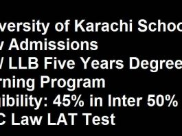 UOK-School-of-Law-Karachi-Admission 2020