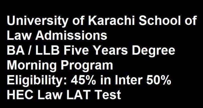 UOK-School-of-Law-Karachi-Admission 2020