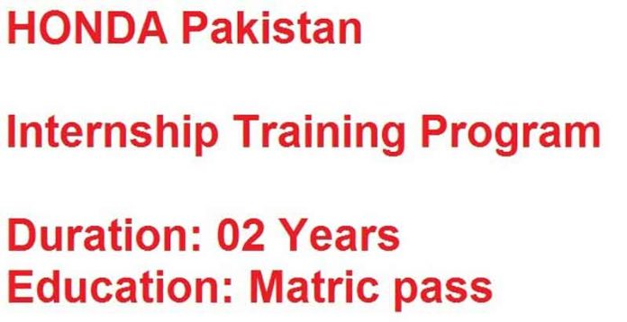 Honda-Pakistan-Internship-Program-2020