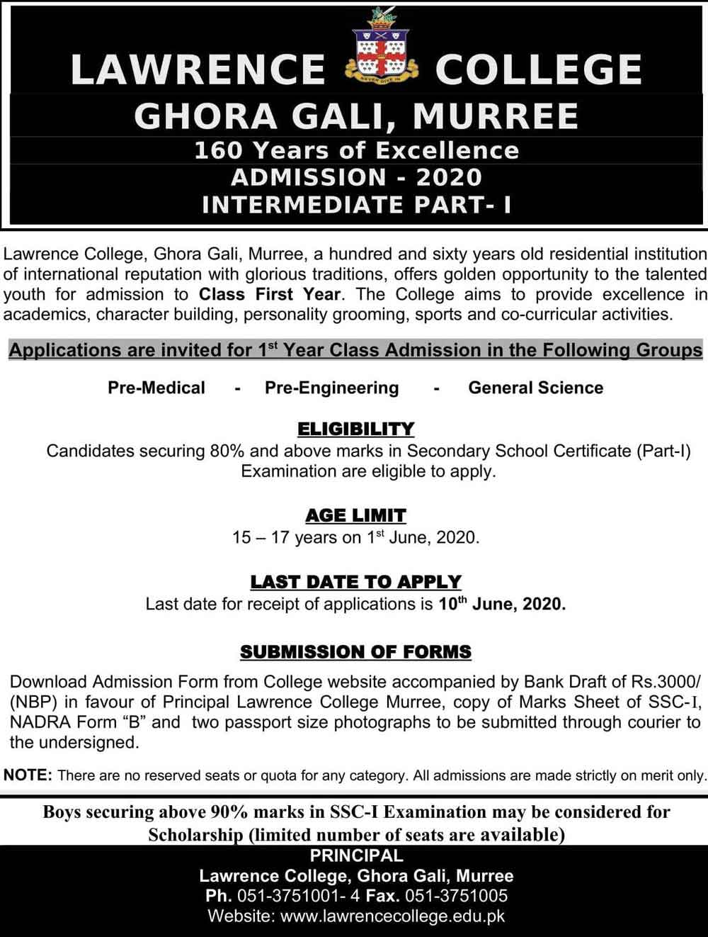 Lawrence-College-Ghora-Gali-Murree-Admission-2020