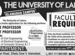 University-of-Lahore-Islamabad-Campus-Jobs-2020